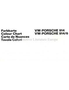 1969 VW-PORSCHE 914 & 914/6 FARBKARTE PROSPEKT