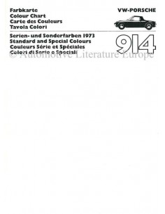 1973 VW-PORSCHE 914 FARBKARTE PROSPEKT