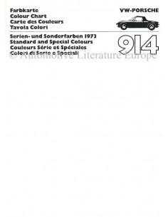 1973 VW-PORSCHE 914 KLEURENKAART BROCHURE