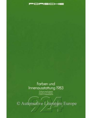 1983 PORSCHE 924 KLEUREN & UITRUSTING BROCHURE DUITS