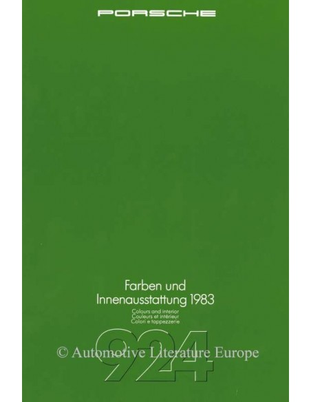1983 PORSCHE 924 COLOURS & INTERIOR BROCHURE GERMAN