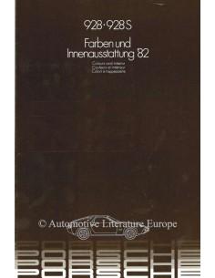 1982 PORSCHE 928 & 928S FARBEN & INNENAUSSTATTUNG PROSPEKT