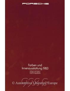 1983 PORSCHE 928S FARBEN & INNENAUSSTATTUNG PROSPEKT
