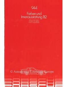 1983 PORSCHE 944 FARBEN & INNENAUSSTATTUNG PROSPEKT