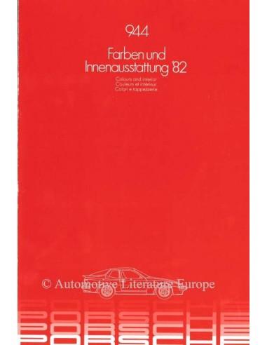 1983 PORSCHE 944 KLEUREN UITRUSTING BROCHURE