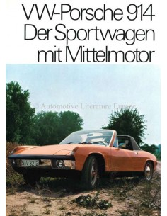 1970 VW-PORSCHE 914 BROCHURE GERMAN