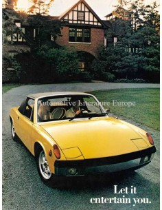 1973 PORSCHE 914 PROSPEKT ENGLISCH