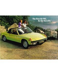 1973 PORSCHE 914 BROCHURE ENGLISH