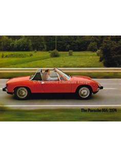1974 PORSCHE 914 PROSPEKT ENGLISCH