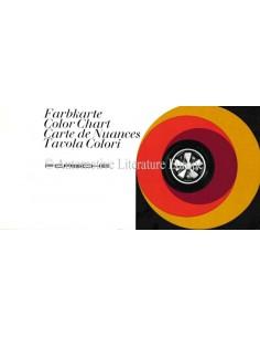 1968 PORSCHE 911 & 912 KLEURENKAART BROCHURE