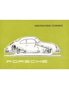 1956 PORSCHE 356A TECHNISCHE DATEN PROSPEKT FRANZÖSISCH