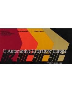 1968 PORSCHE 911 & 912 FARBKARTE PROSPEKT