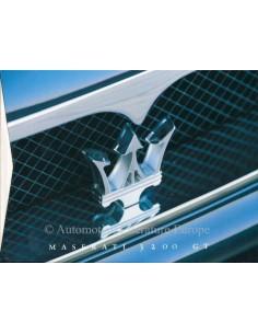 1998 MASERATI 3200 GT HARDCOVER PROSPEKT ITALIENISCH ENGLISCH