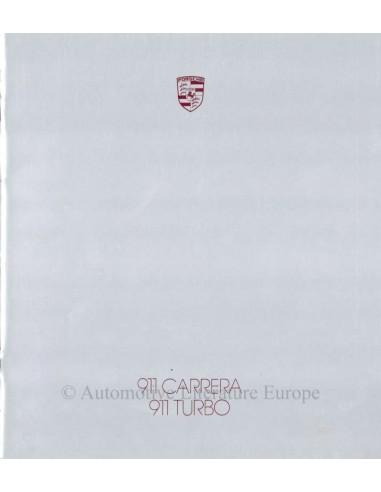 1987 PORSCHE 911 CARRERA & TURBO BROCHURE GERMAN