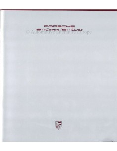1989 PORSCHE 911 CARRERA & TURBO BROCHURE DUITS