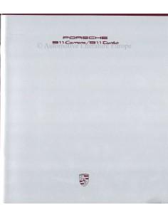 1989 PORSCHE 911 CARRERA & TURBO BROCHURE DUITS