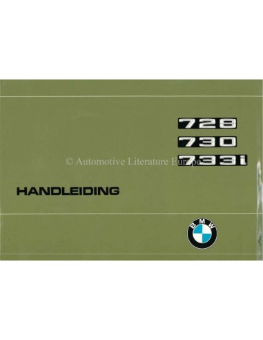 1977 BMW 7 SERIES OWNERS MANUAL DUTCH