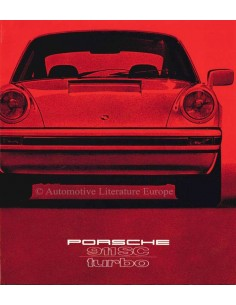1979 PORSCHE 911 SC TURBO BROCHURE GERMAN