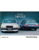 1984 VOLVO 740 GLE INSTRUCTIEBOEKJE NEDERLANDS