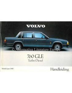 1985 VOLVO 760 GLE TURBO DIESEL OWNERS MANUAL HANDBOOK DUTCH