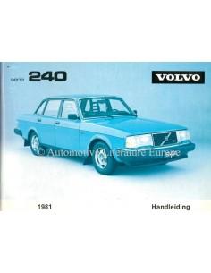 1981 VOLVO 240 BETRIEBSANLEITUNG NIEDERLÄNDISCH