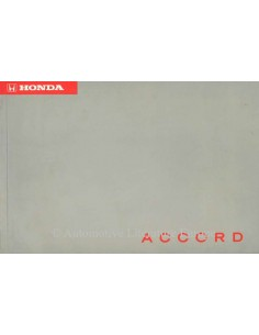 1996 HONDA ACCORD OWNER'S MANUAL DUTCH