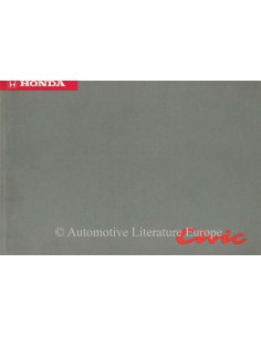1992 HONDA CIVIC OWNER'S MANUAL HANDBOOK DUTCH