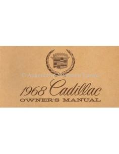 1968 CADILLAC INSTRUCTIEBOEKJE ENGELS