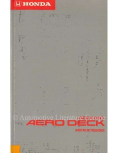 1992 HONDA ACCORD AERO DECK OWNER'S MANUAL DUTCH