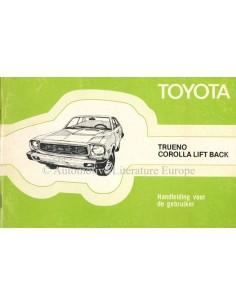 1976 TOYOTA TRUENO & COROLLA LIFT BACK OWNER'S MANUAL ENGLISH