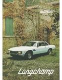 1979 DE TOMASO LONGCHAMP BROCHURE