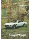 1979 DE TOMASO LONGCHAMP PROSPEKT