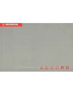 1994 HONDA ACCORD OWNER'S MANUAL HANDBOOK DUTCH