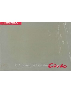 1994 HONDA CIVIC OWNER'S MANUAL HANDBOOK DUTCH