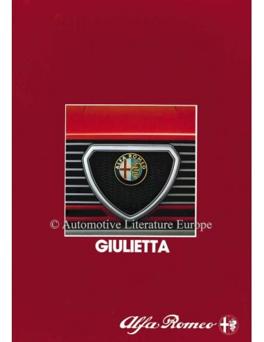 1983 ALFA ROMEO GIULIETTA BROCHURE NEDERLANDS