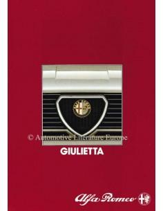 1984 ALFA ROMEO GIULIETTA BROCHURE NEDERLANDS
