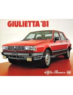 1981 ALFA ROMEO GIULIETTA PROSPEKT NIEDERLANDISCH