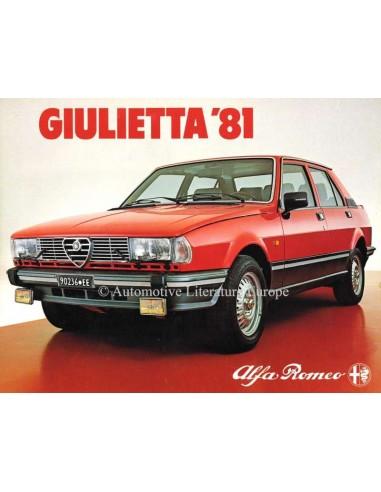 1981 ALFA ROMEO GIULIETTA BROCHURE NEDERLANDS