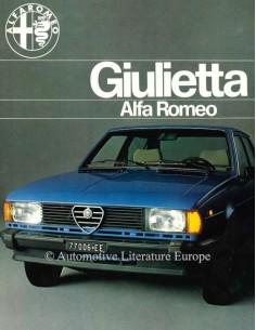 1977 ALFA ROMEO GIULIETTA BROCHURE DUTCH