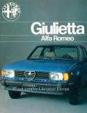 1979 ALFA ROMEO GIULIETTA BROCHURE NEDERLANDS