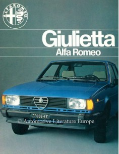 1980 ALFA ROMEO GIULIETTA BROCHURE NEDERLANDS