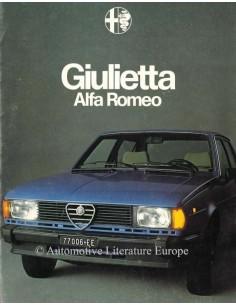 1978 ALFA ROMEO GIULIETTA BROCHURE NEDERLANDS