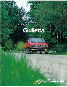 1982 ALFA ROMEO GIULIETTA BROCHURE DUTCH