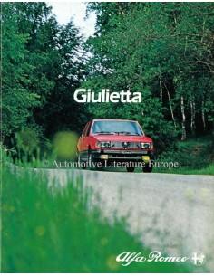 1982 ALFA ROMEO GIULIETTA PROSPEKT NIEDERLANDISCH