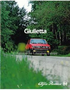1981 ALFA ROMEO GIULIETTA PROSPEKT NIEDERLÄNDISCH