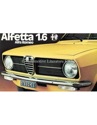1975 ALFA ROMEO ALFETTA 1.6 BROCHURE DUTCH