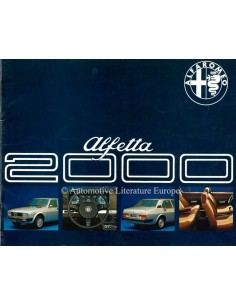 1977 ALFA ROMEO ALFETTA 2000 PROSPEKT NIEDERLÄNDISCH