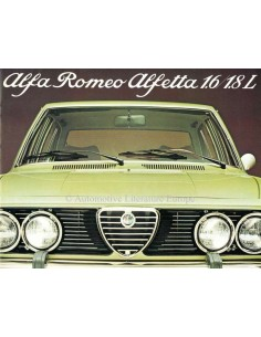 1976 ALFA ROMEO ALFETTA 1.6 / 1.8L BROCHURE DUTCH