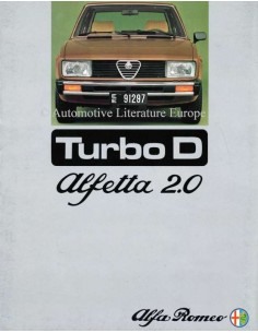 1976 ALFA ROMEO ALFETTA 2.0 TURBO D BROCHURE DUTCH