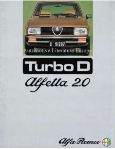 1976 ALFA ROMEO ALFETTA 2.0 TURBO D PROSPEKT NIEDERLÄNDISCH